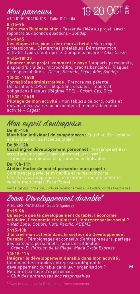 Programme Forum Micro entreprise